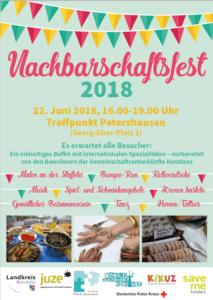 Nachbarschaftsfest 2018 im Treffpunkt Petershausen in Konstanz