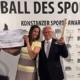"""Friedhelm Großmann von Save me Konstanz e.V. erhält im April 2016 beim Ball des Sports den Sport-Award für das Save me Projekt """"Integration durch Sport"""""""