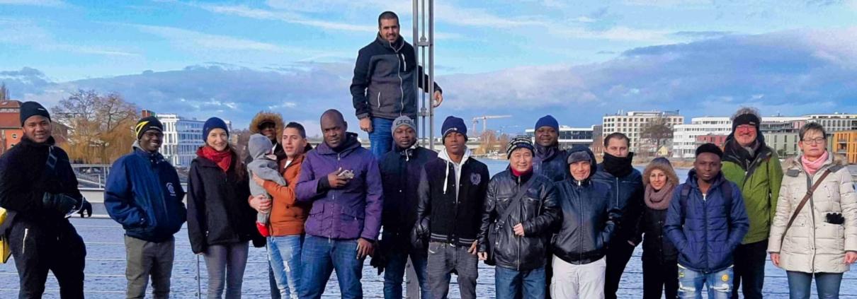 TeilnehmerInnen der Save me Stadtführung am 30.01.2019