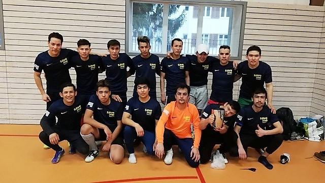 """Geflüchtete Fußballer von """"Kabul United"""" beim Training"""