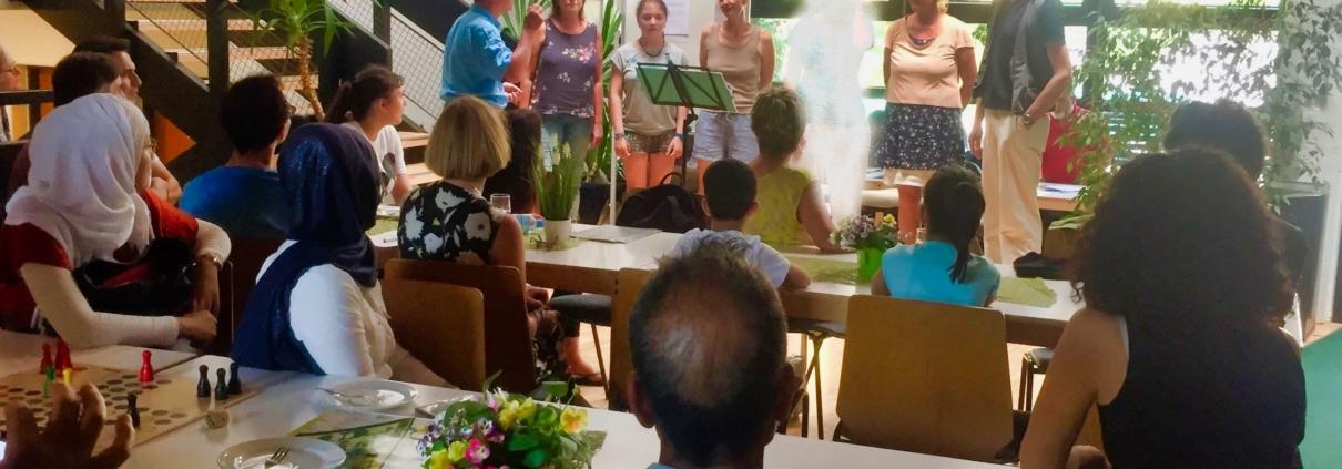 Interkultureller Chor beim Save me Treff am 24.06.2019