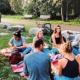 Die Interkulturelle Gruppe Konstanz beim Picknick auf dem Hohentwiel am 20. Juli 2019